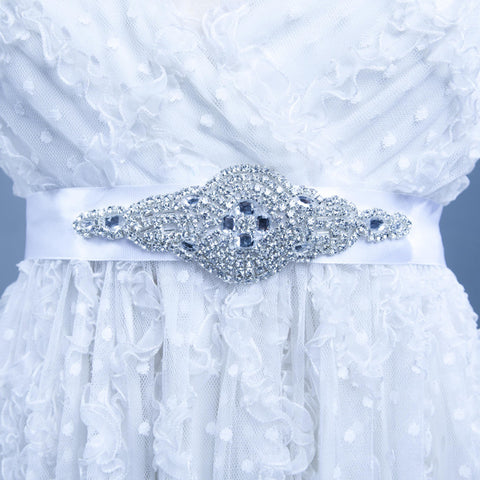 The Garnet Crystal Bridal Belt/Sash by Love Charlie