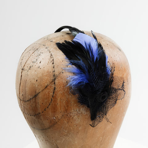 Small Feathered Headband: Choose Your Colour