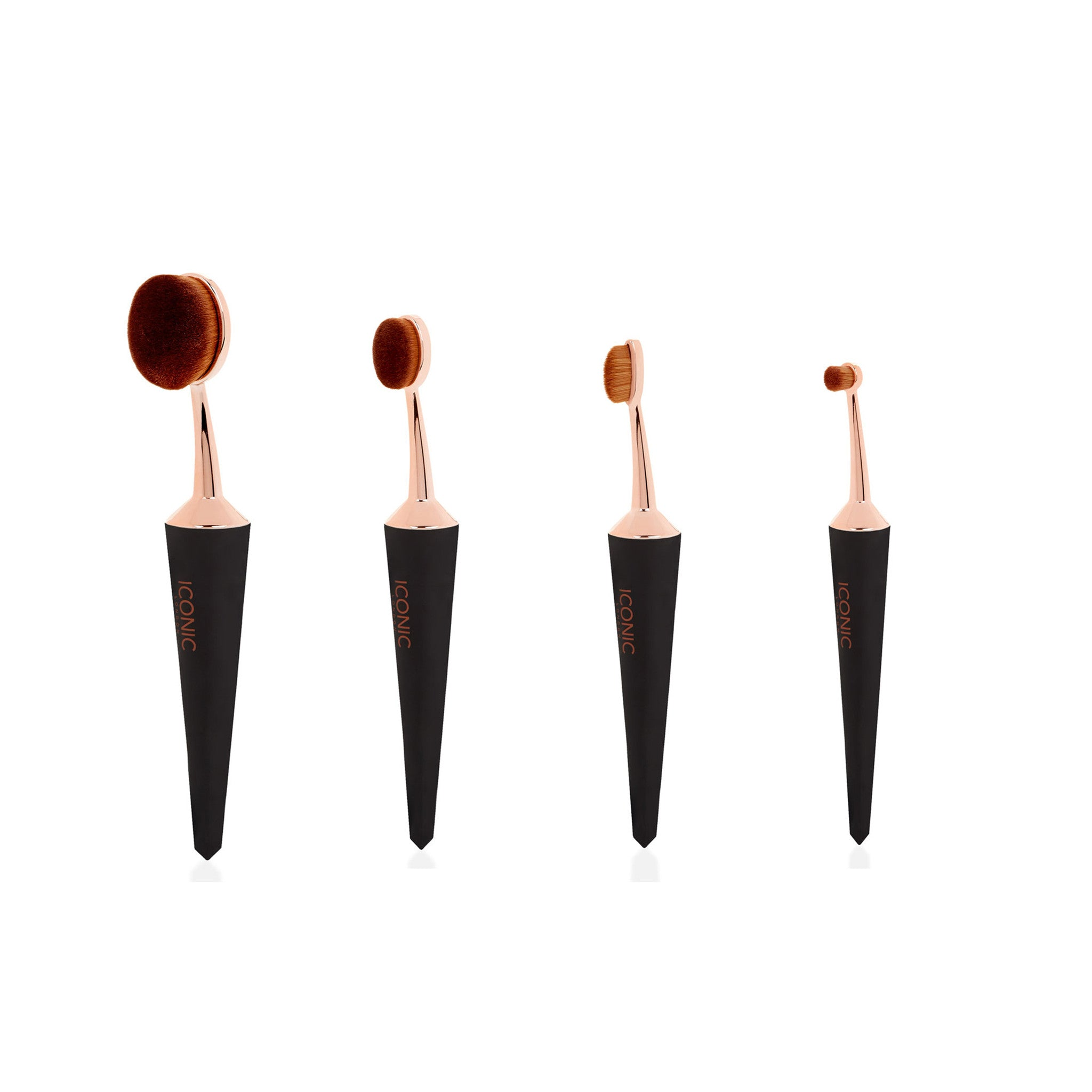 NEW EVO CONTOUR & CONCEAL MAKEUP BRUSH SET BLACK