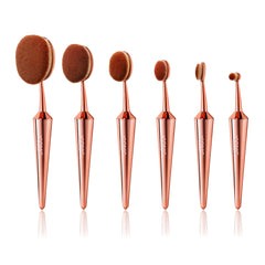 EVO ROSE GOLD COMPLETE MAKEUP BRUSH FACE SET