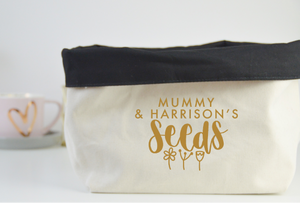 Personalised Seeds Fabric Basket - You Make My Dreams