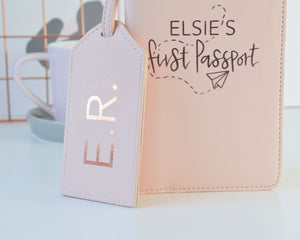 Personalised First Passport Case & Luggage Tag