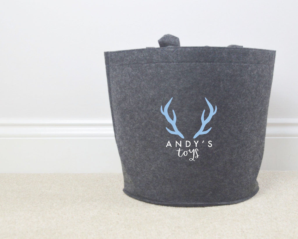 Personalised Stag Toy Basket - You Make My Dreams