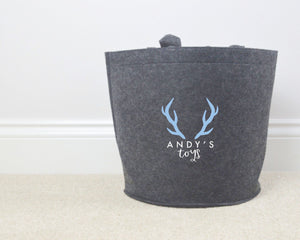 Personalised Stag Toy Basket