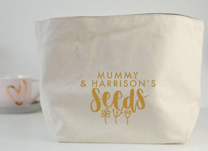 Personalised Seeds Fabric Basket