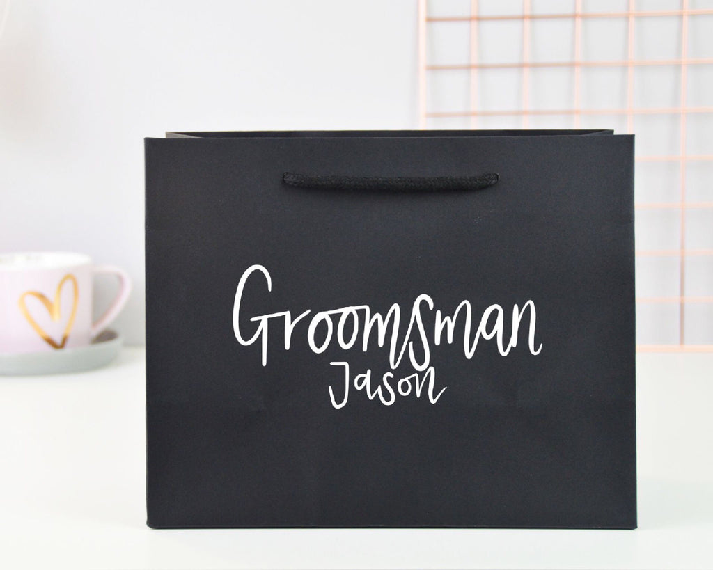 Small Personalised Groomsman Gift Bag - You Make My Dreams