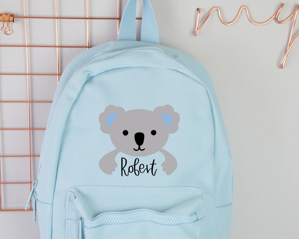 Blue Personalised Children's Koala Backpack - You Make My Dreams
