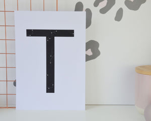 A4 Black Constellation Letter Prints - You Make My Dreams