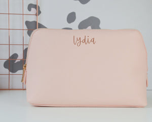 Personalised Leather Look Make Up Pouch - You Make My Dreams