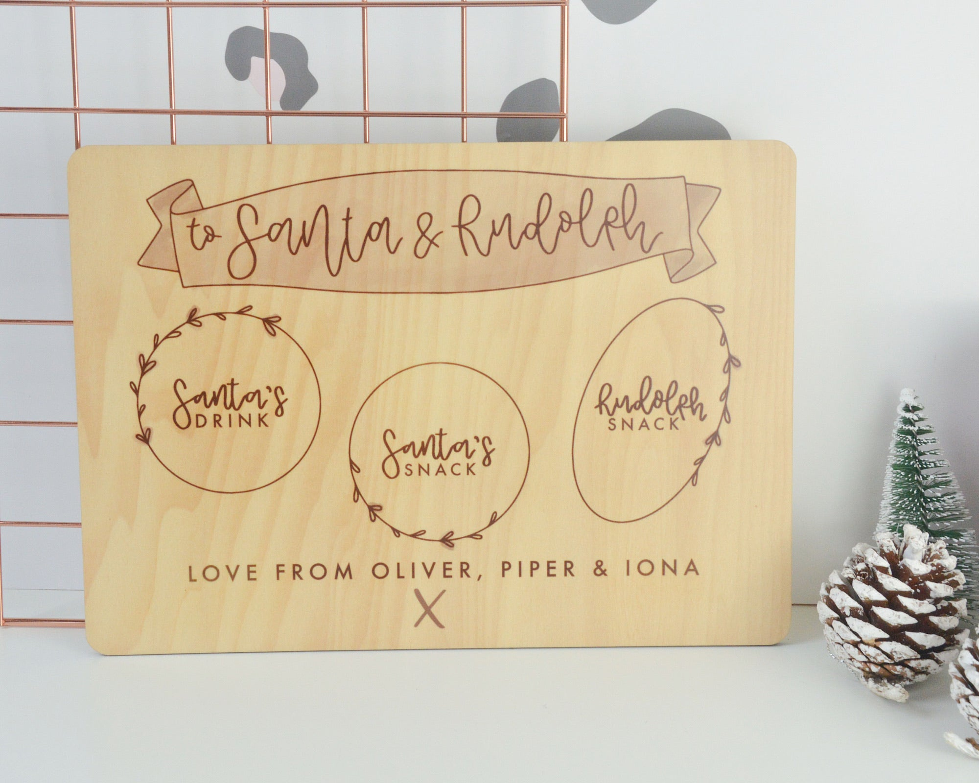 Personalised Wooden Christmas Eve Board - You Make My Dreams