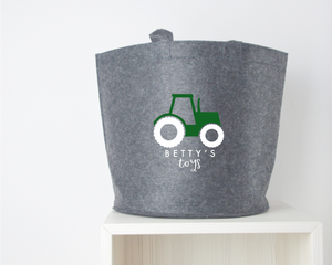 Personalised Tractor Toy Basket - You Make My Dreams