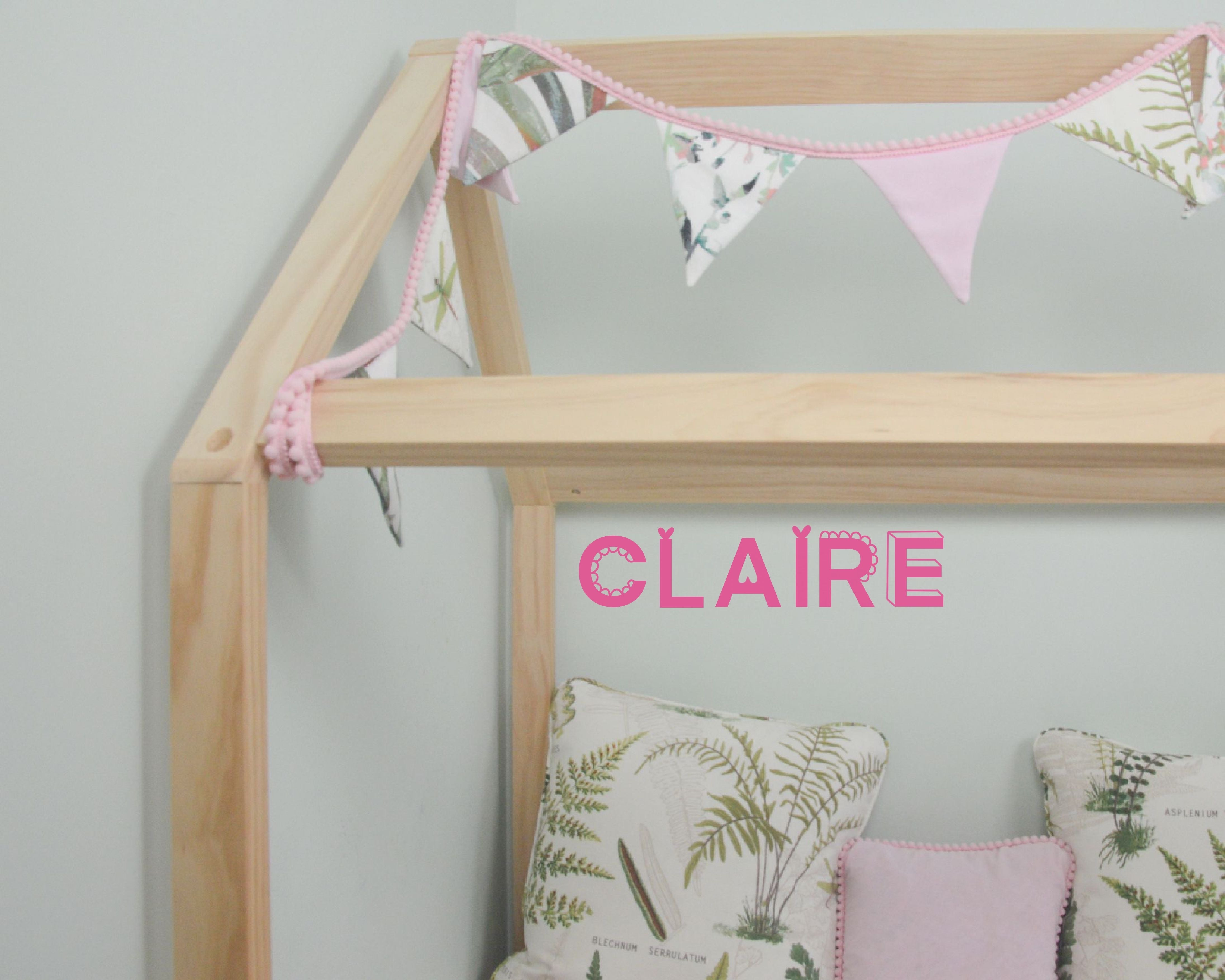 5cm Pretty Letter Wall Stickers - You Make My Dreams