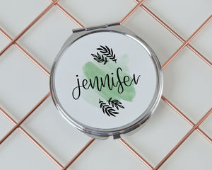 Personalised Name Compact Mirror - You Make My Dreams