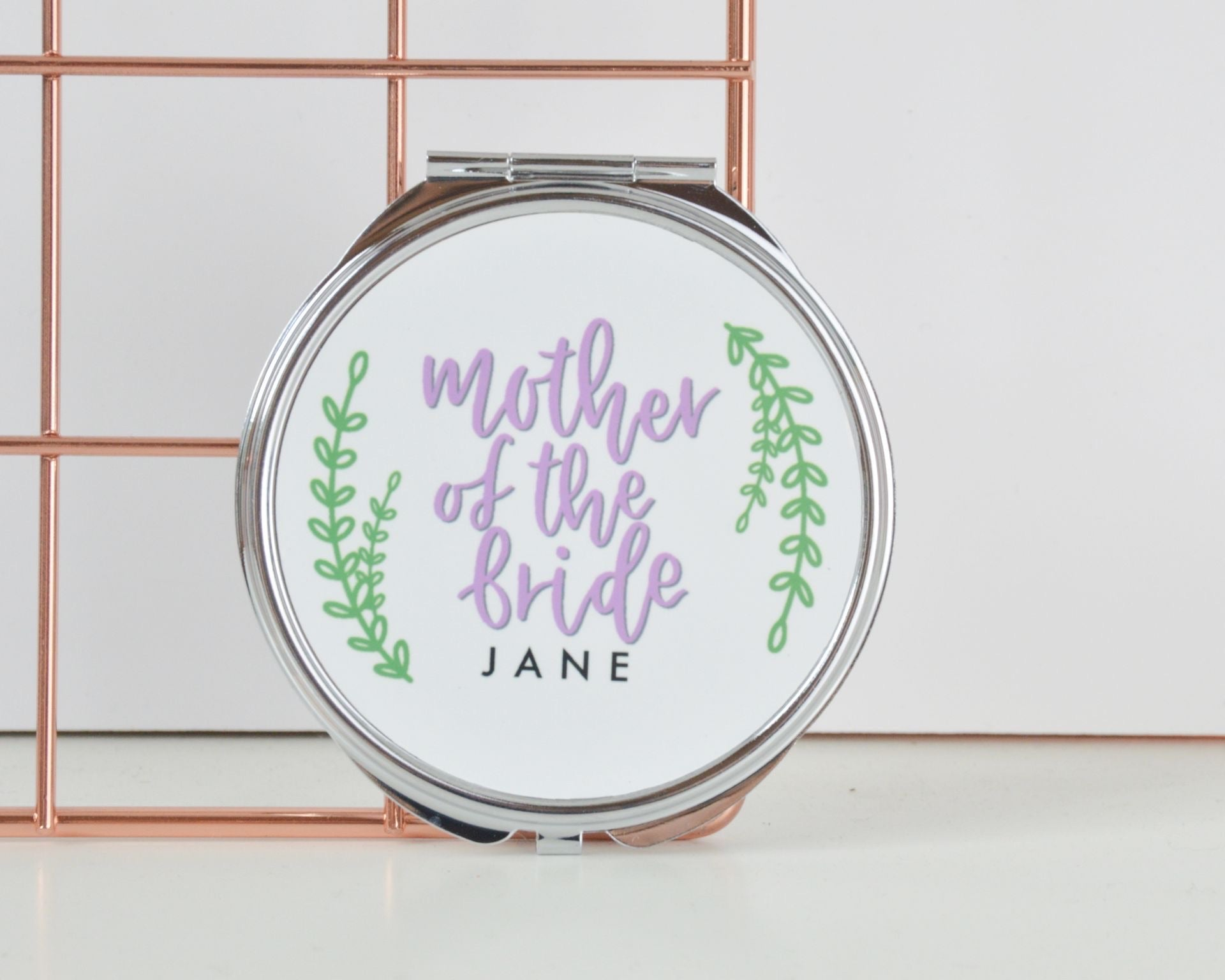Personalised Mother of the Bride or Groom Compact Mirror - You Make My Dreams
