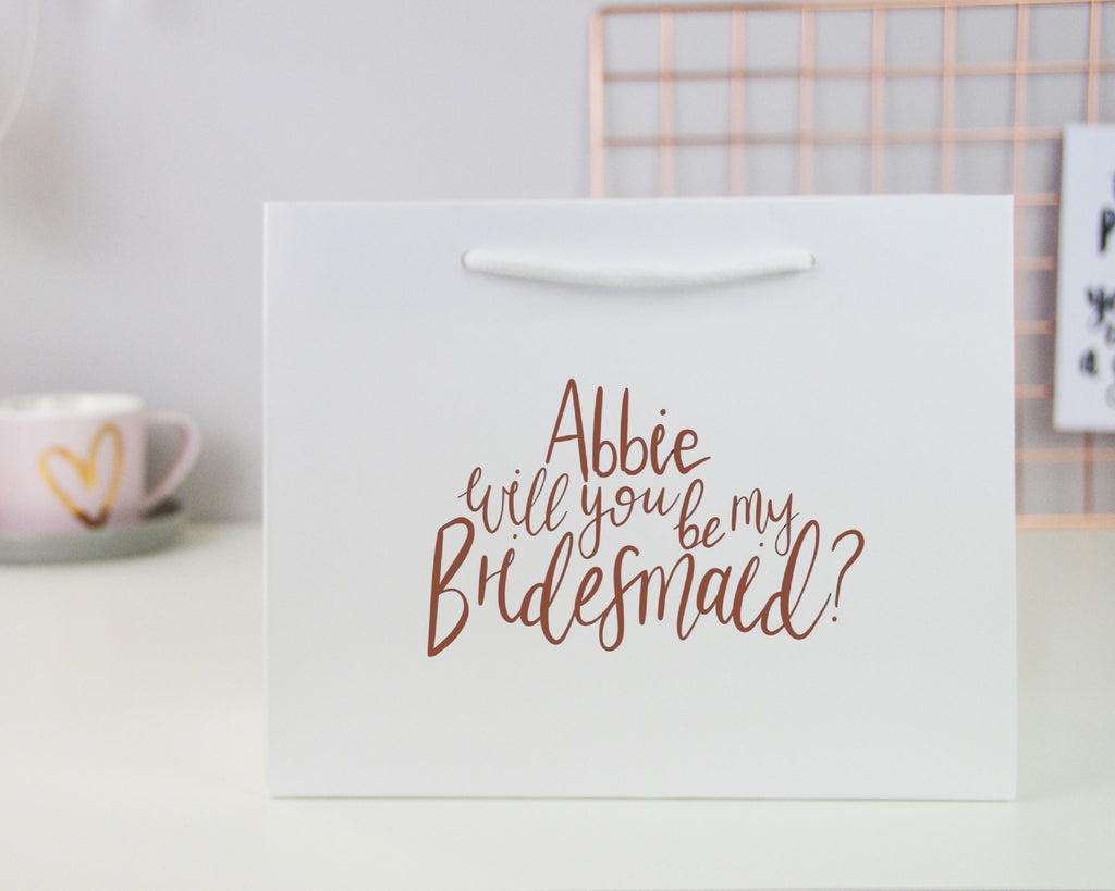 Small Personalised Bridesmaid Proposal Gift Bag - You Make My Dreams