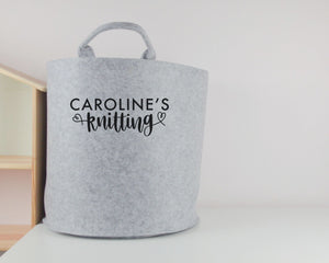 Personalised Knitting Basket - You Make My Dreams