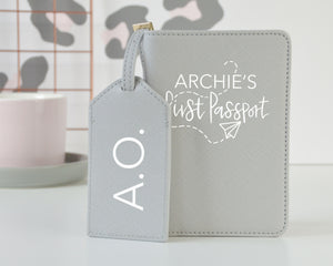 Personalised First Passport Case & Luggage Tag - You Make My Dreams