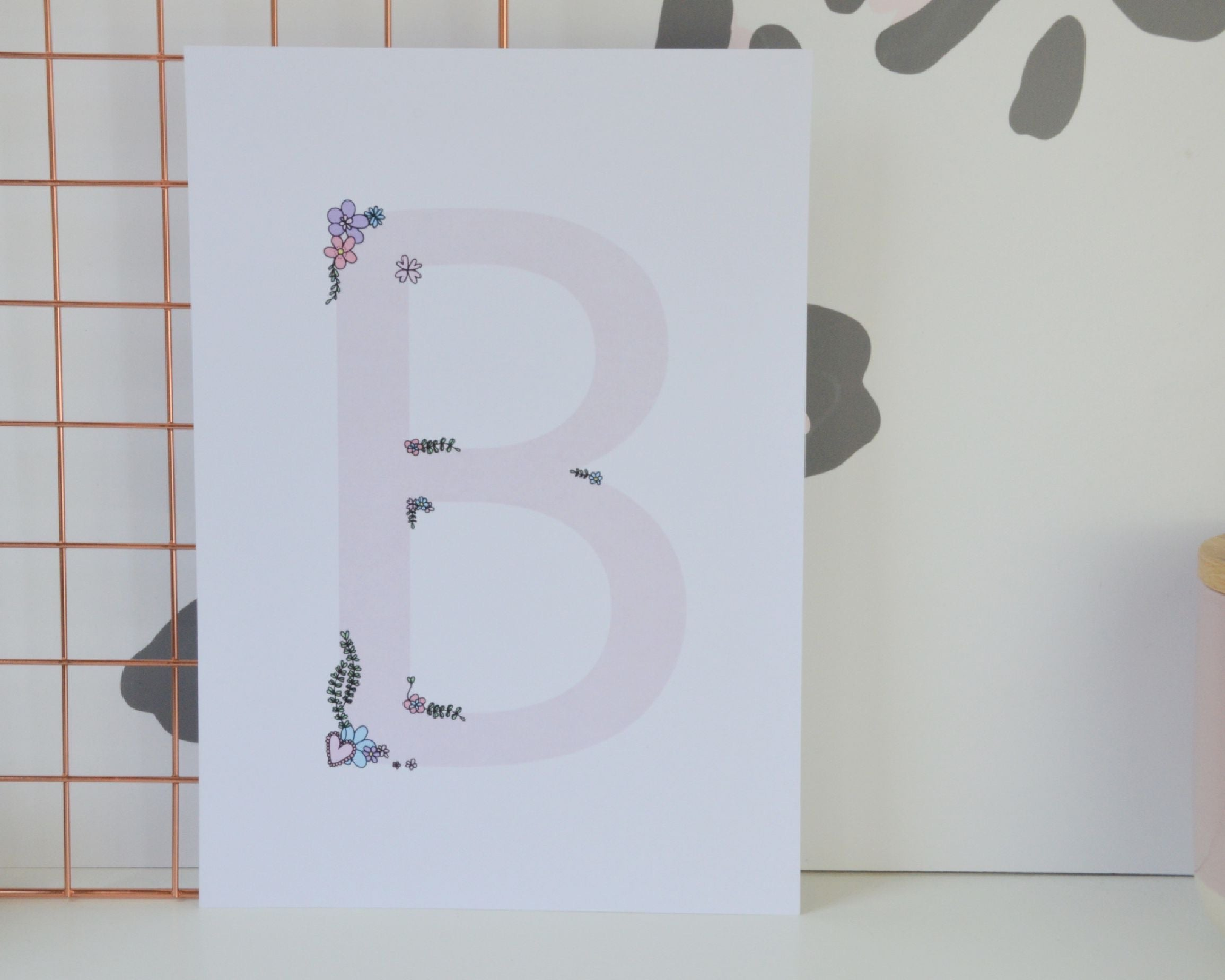 A4 Floral Pink Letters - You Make My Dreams