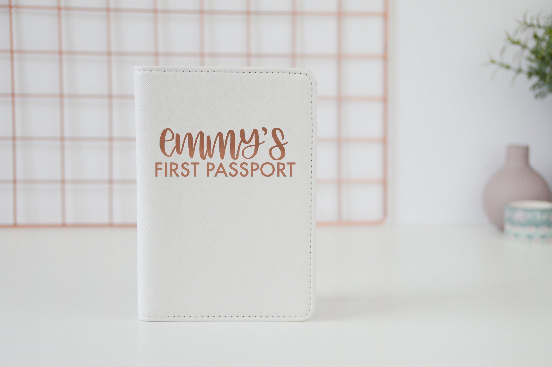 Personalised First Passport Case - You Make My Dreams