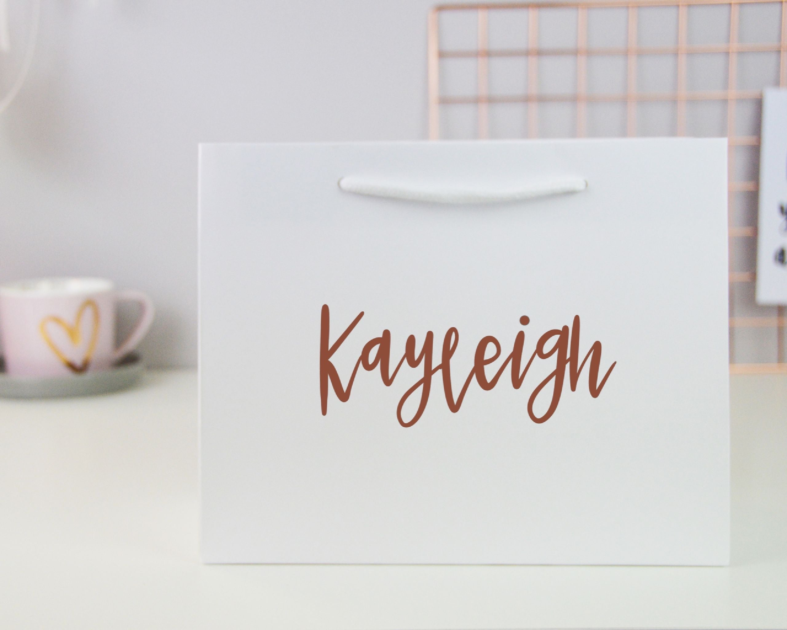 Large Personalised Name Gift Bag - You Make My Dreams