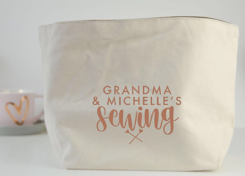 Personalised Sewing Fabric Basket - You Make My Dreams