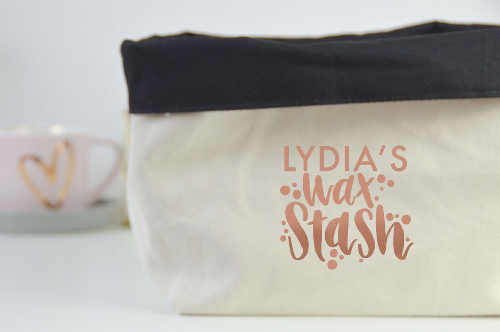Personalised Wax Stash Basket