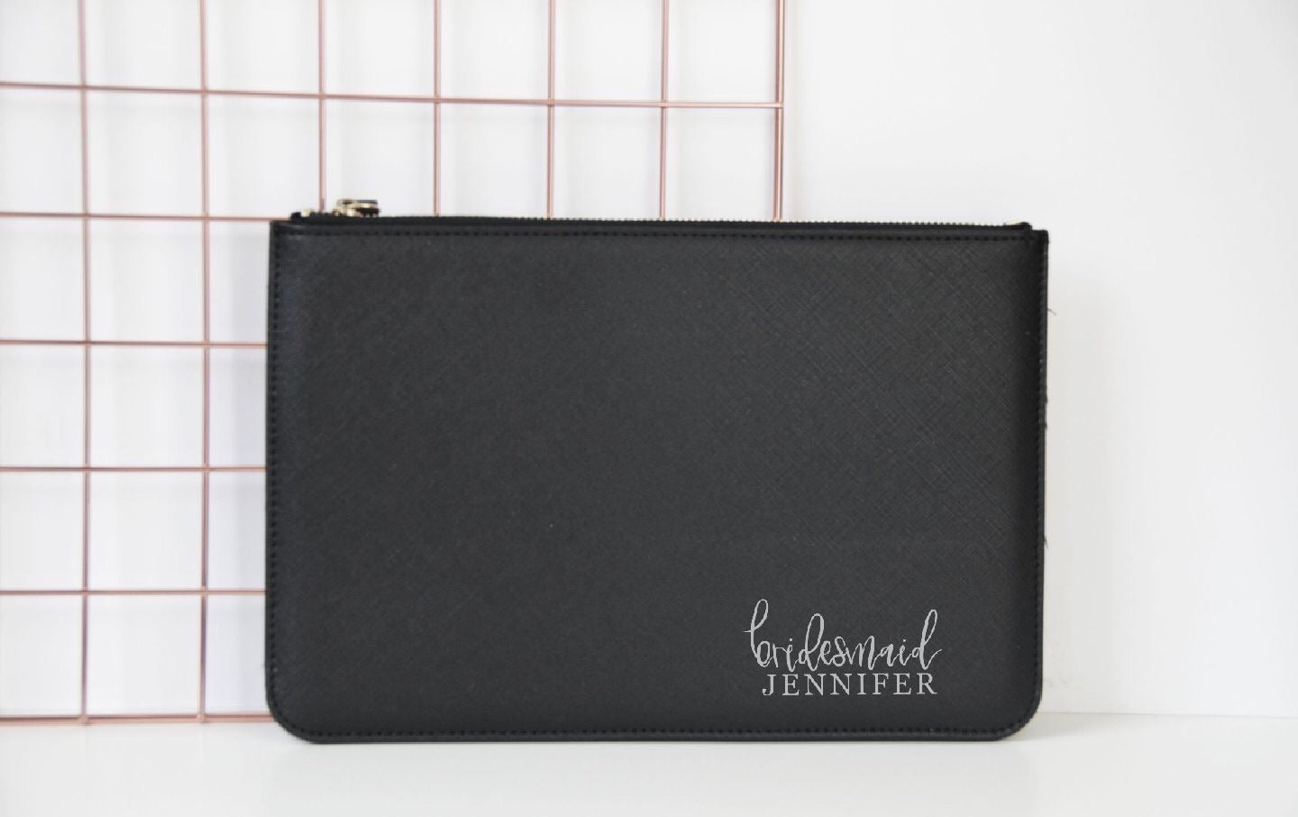 Personalised Bridesmaid Clutch Bag - You Make My Dreams