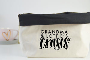 Personalised Craft Fabric Basket - You Make My Dreams