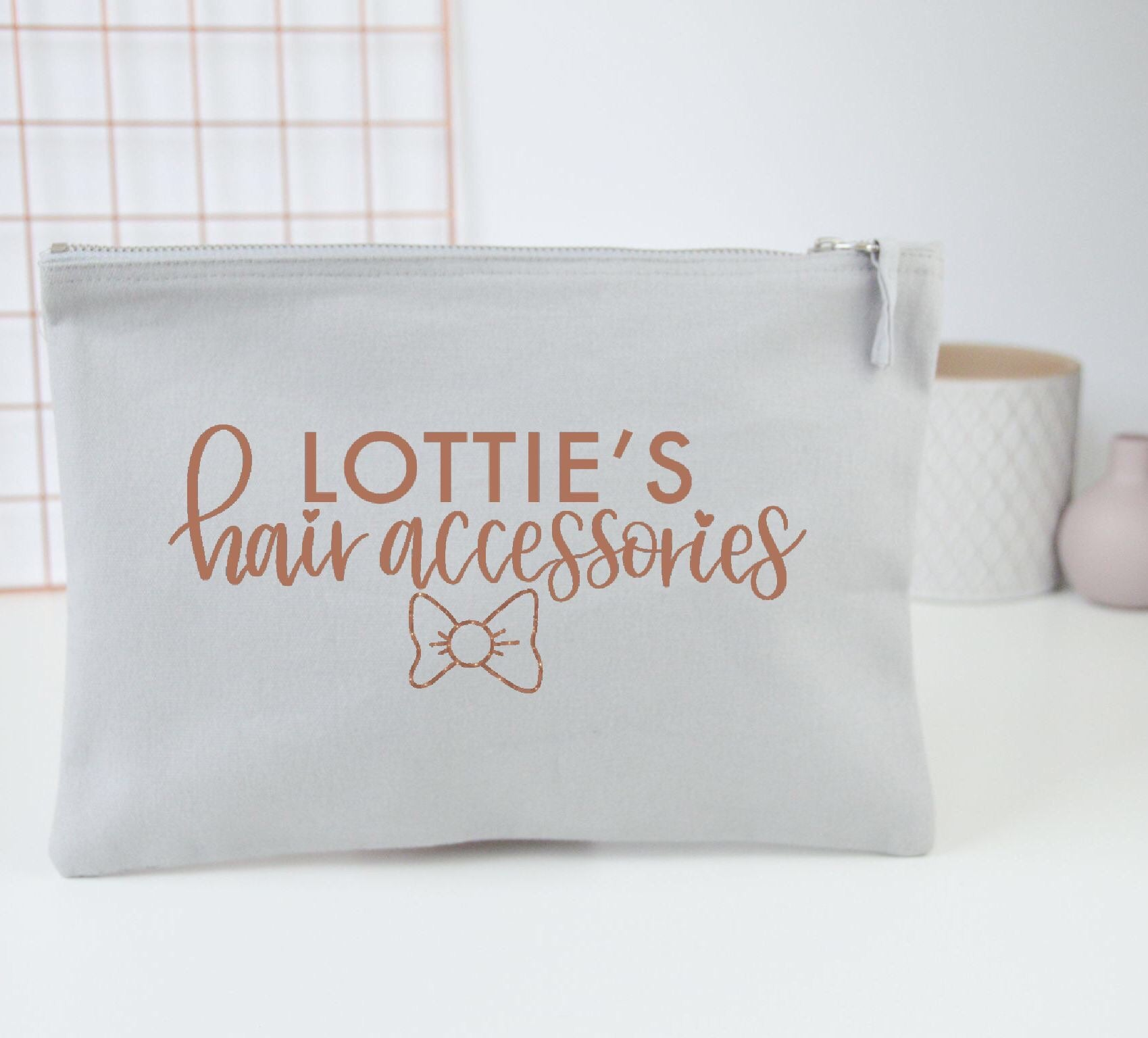 Personalised Hair Accessories Pouch - You Make My Dreams