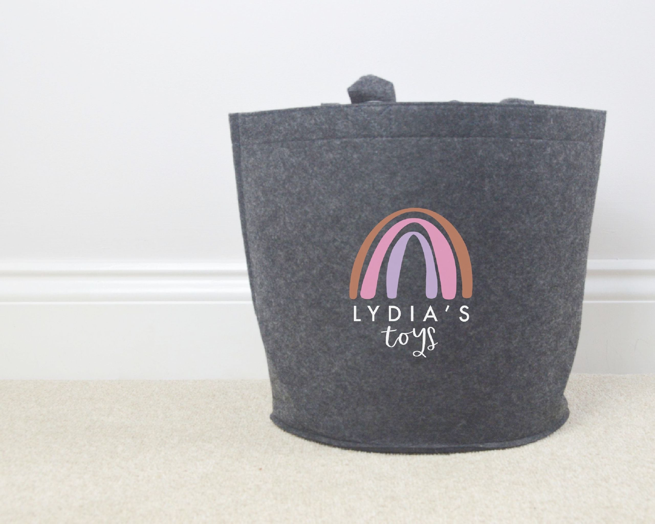 Personalised Rainbow Toy Basket - You Make My Dreams