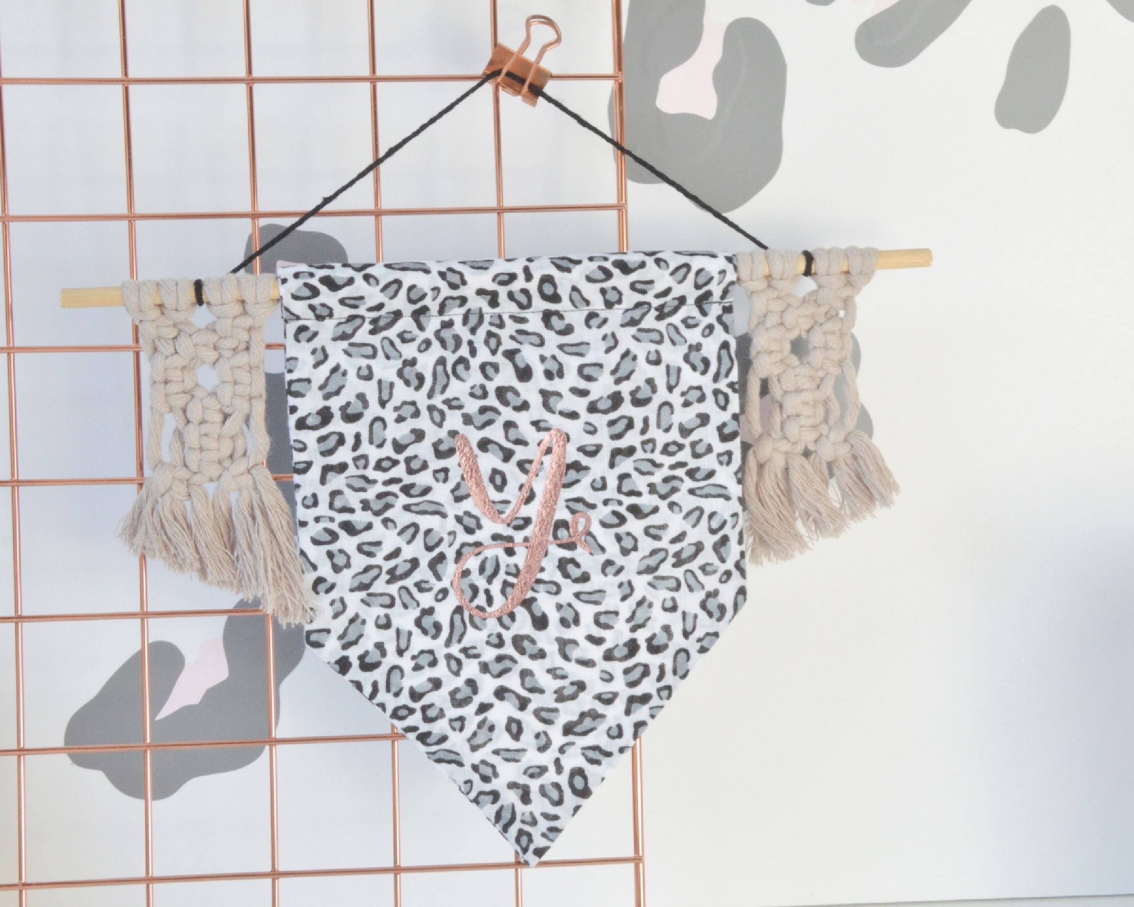 Personalised Macrame Banner Flag - You Make My Dreams