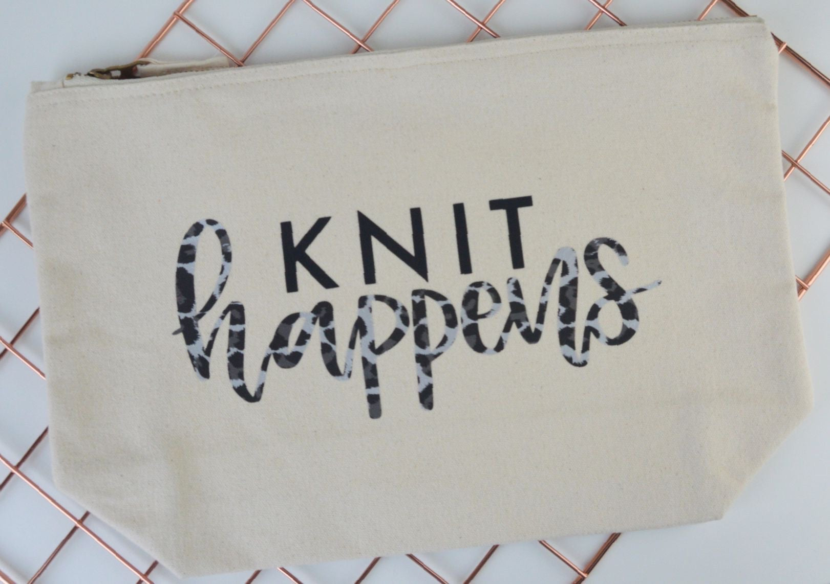 'Knit Happens' Knitting Pouch - You Make My Dreams