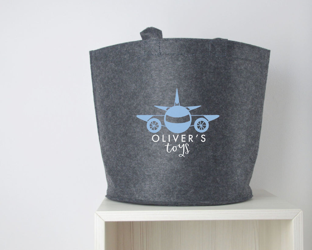 Personalised Plane Toy Basket