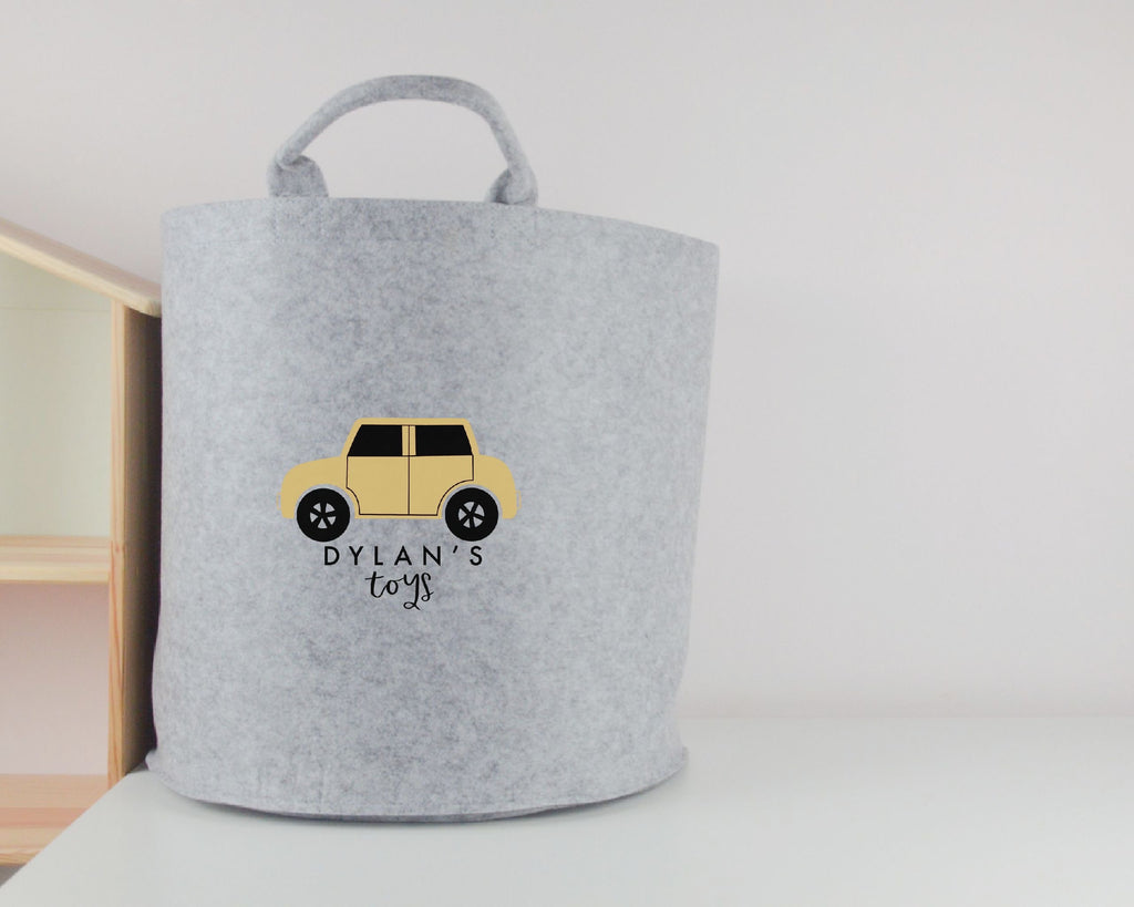 Personalised Car Toy Basket