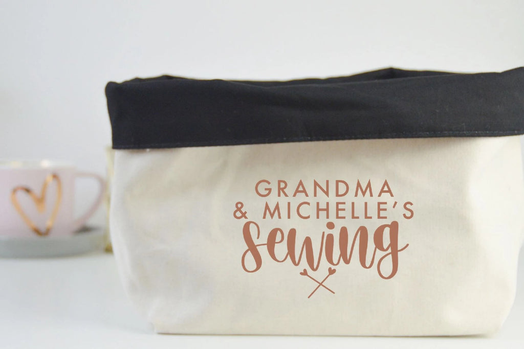 Personalised Sewing Fabric Basket