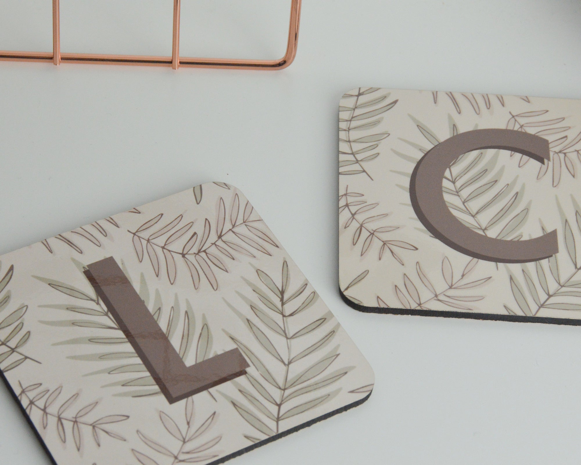 Personalised Initial Leaf Coaster - You Make My Dreams