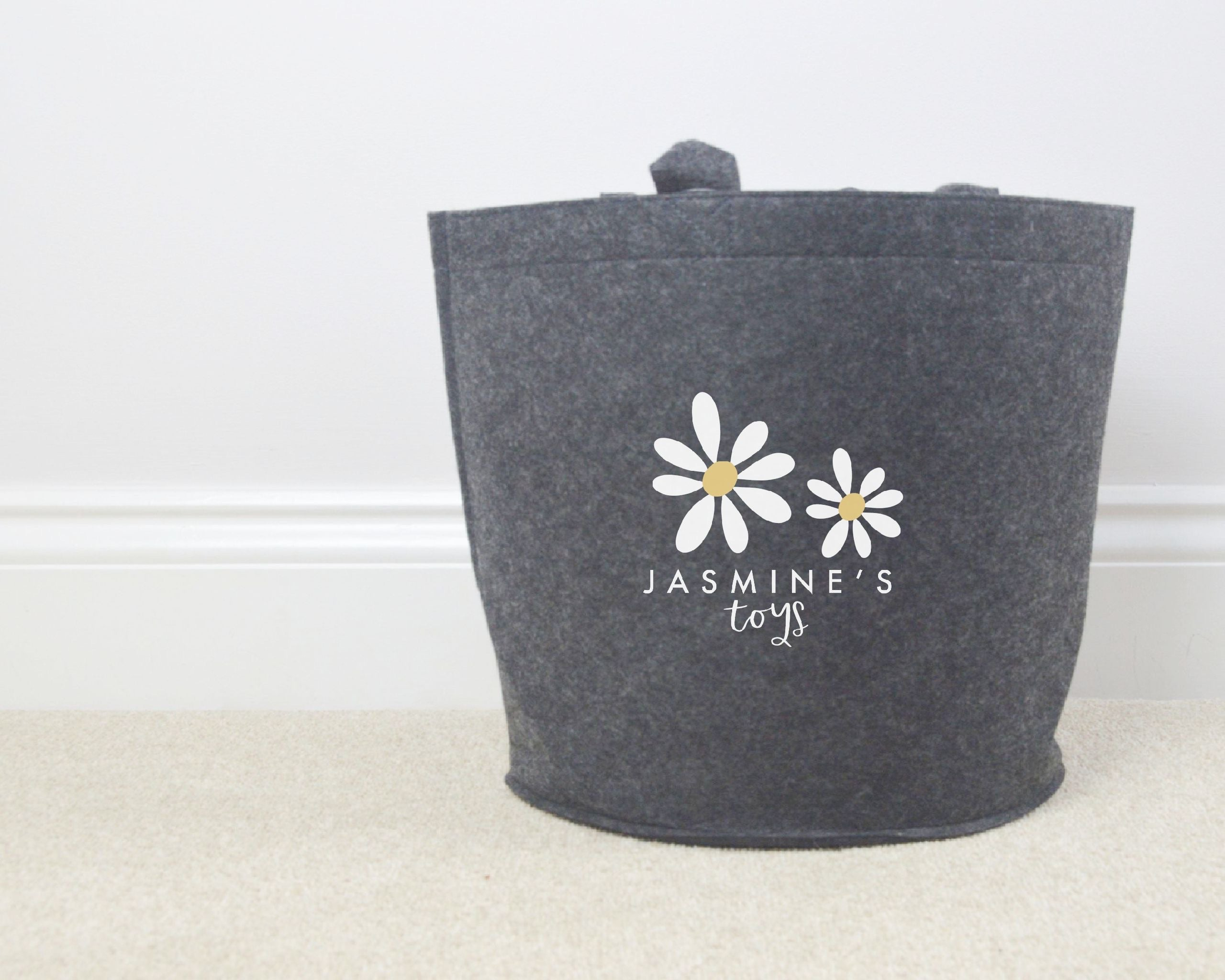 Personalised Daisy Toy Basket