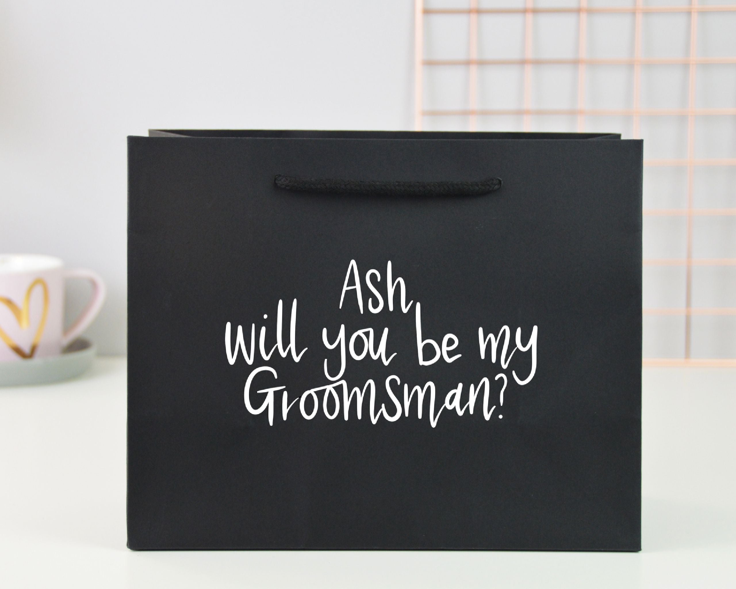 Small Personalised Groomsman Proposal Gift Bag - You Make My Dreams