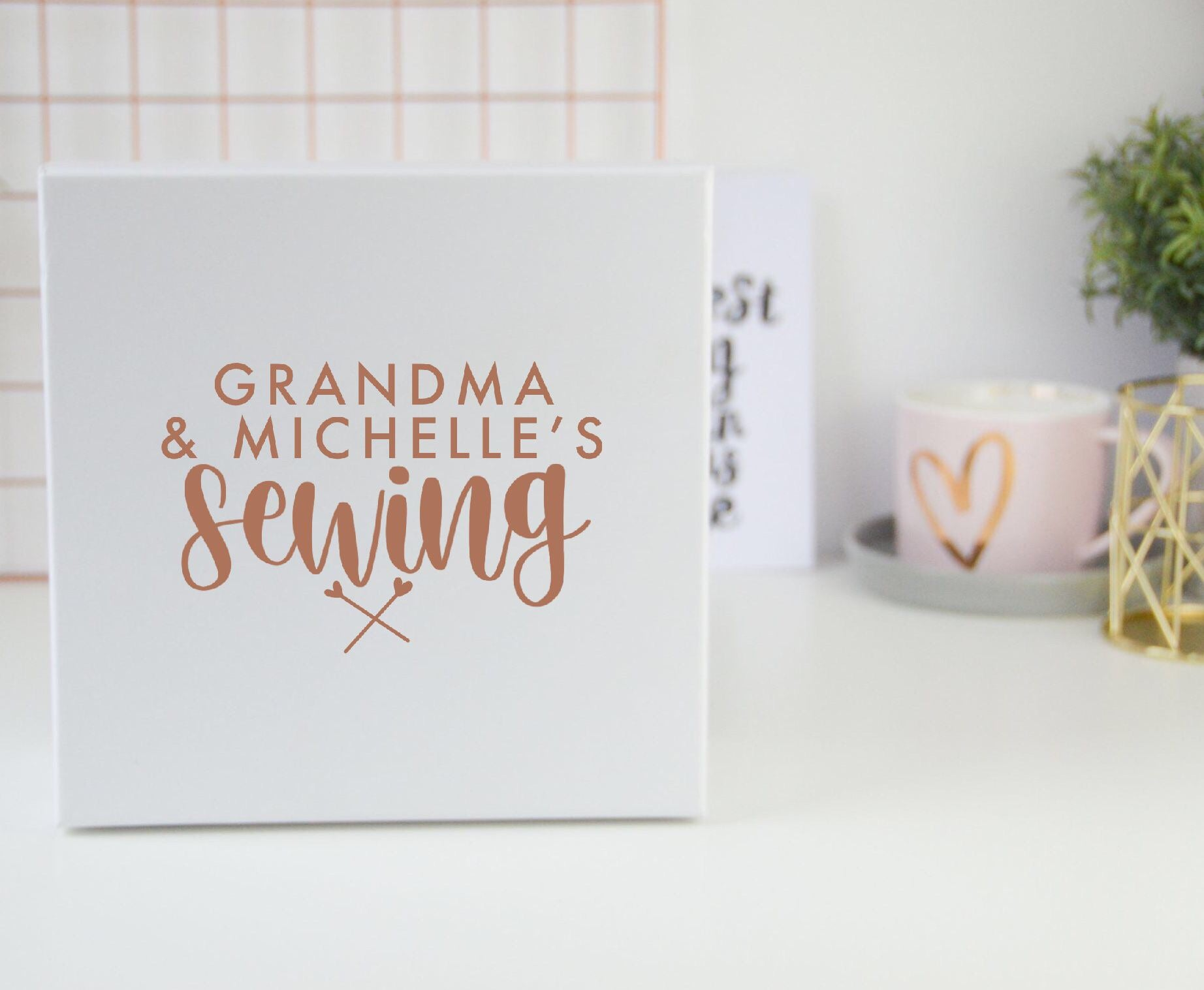 Personalised Sewing Box - You Make My Dreams