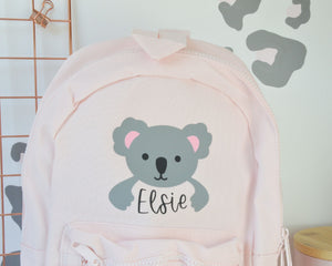 Pink Personalised Children's Koala Backpack - You Make My Dreams