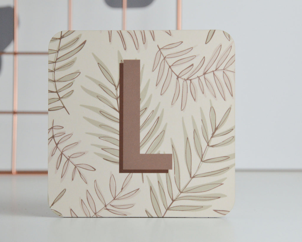 Personalised Initial Leaf Coaster