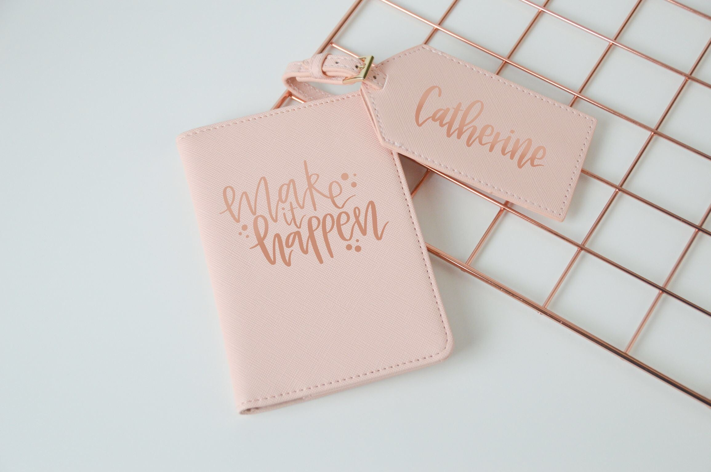 Personalised Passport & Luggage Tag Set