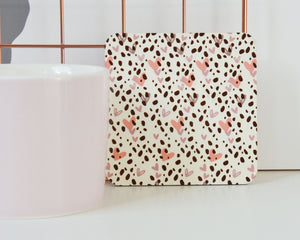 Dalmatian Heart Print Coaster - You Make My Dreams