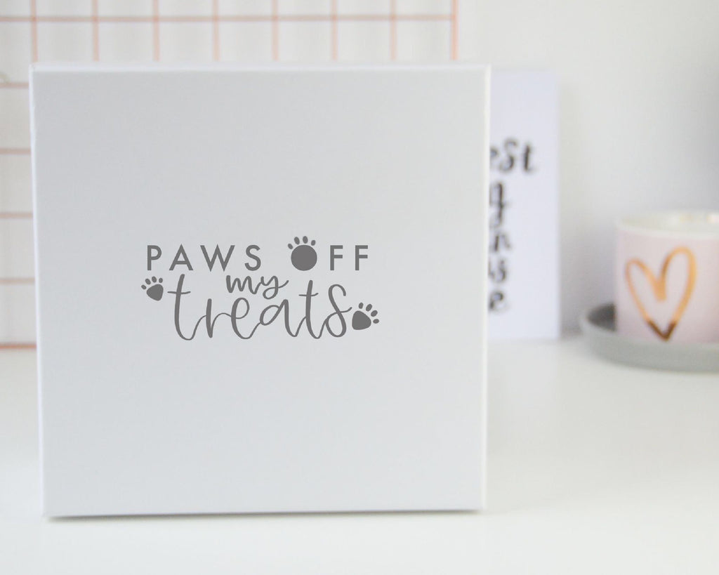 'Paws Off our Treats' Dog Treat Box