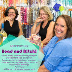 Come to Our weekly bead night on Wednesday nights and make a new friend!