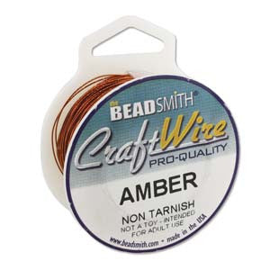 AMBER 20YD/SPOOL CRAFT WIRE 24GA ROUND