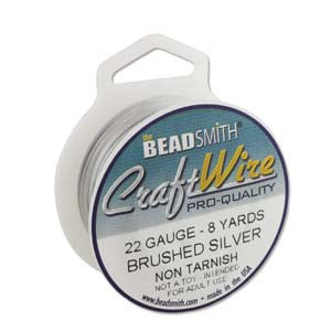 BRUSHED SILVER 10YD/SPOOL CRAFT WIRE 24GA ROUND
