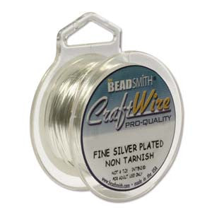 10YD SPOOL NON TARNISH SILVER CRAFT WIRE 24GA ROUND