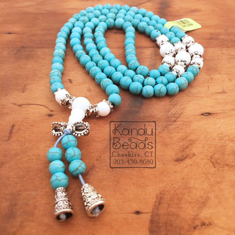 Magnesite Turquoise Round 6mm Mala Prayer Beads