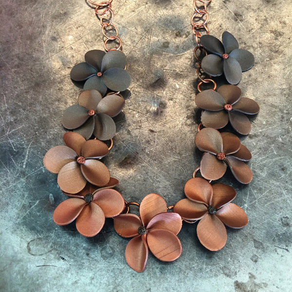 Floral Lei Polymer Chain Necklace supplies for WoC